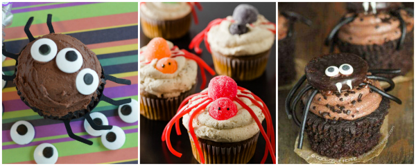 Cute Spider Cupcakes for Halloween