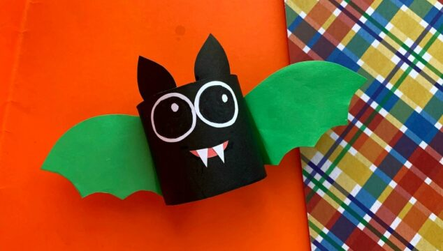 Cute Halloween Bat Craft for Kids tutorial