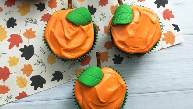 Recipe for Easy Halloween Pumpkin cupcakes