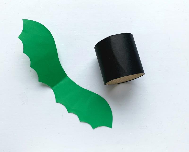 cute bat tutorial - step 8 cut out the bat's wings.
